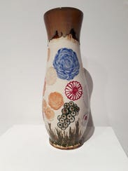 """Fantasy Flowers,"" by Michael Brailove, ceramic, created"