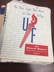 A 1954 Annual Report of the Broome County United Fund,