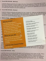 Republic Services sent a mailer to Springfield residents,