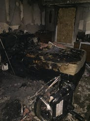 Fire damaged the Cherrywood Apartments unit of engaged couple Brittany McCarson and Justin Bowers in September 2017 and many of the items for their planned wedding a few weeks later.