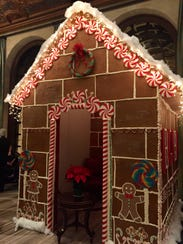 Hotel du Pont executive pastry chef Michele Mitchell and her team assembled a life-size gingerbread house in the hotel's lobby for the annual Grand Gala celebration in December.