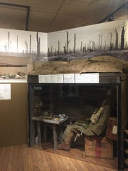 A recreation of trenches at the Montana Historical