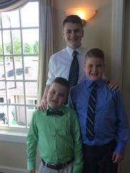 Griffin, Sawyer and Tanner Peters are students in Webster