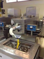 A custard making machine at Meadows.