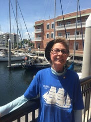 Carla Robinson, a Pensacola sailing icon, is a former