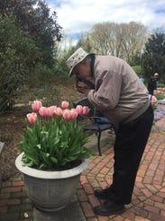 Robert Grelak, a Newark resident, spent his Sunday