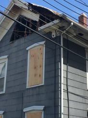 A family of three was displaced after a residential