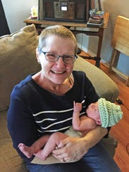 Terri Alleman with her grandson Max.