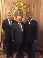 U.S. Sen. Bill Cassidy, R-La., left, invited Bishop