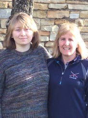 Student Courtney Ahnert, left, with Mentor Terri Johnston.