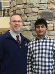 Student Jose Barrios, right, with Mentor Karl Liedtka.