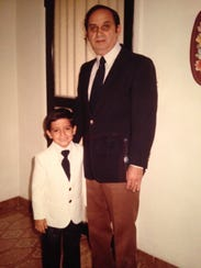 Armando Alvarez, at age 4, with his dad, Armando Luis