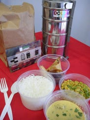 Each dabba comes with two appetizers and one entrée.