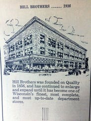 Hills Bros. department store ad in 1936 Daily Commonwealth