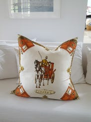 Another decorative pillow designed by Kari Hershey.