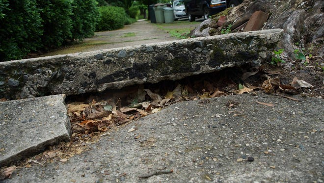 Uprooted sidewalks along W. 17 St. near Greenhill Ave.State Rep. Gerald Brady is sponsoring a bill that would have city council decide who is responsible for maintenance of Wilmington's sidewalks.
