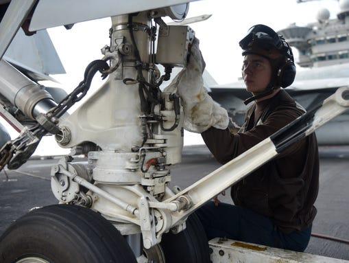 Aviation Structural Mechanic Airman Zechariah Eger