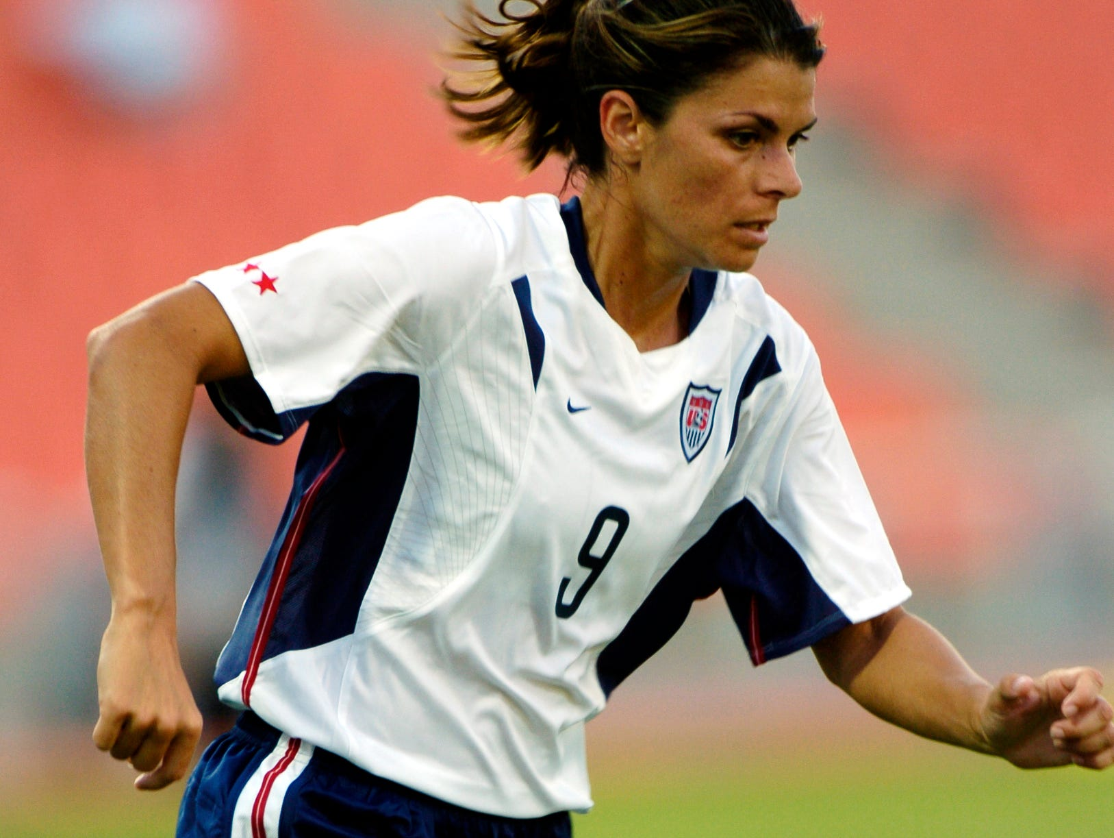 Mia Hamm is a two-time gold medalist with the U.S. women's soccer team.