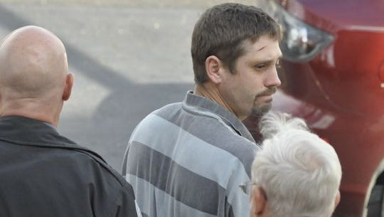 Joseph Leo Saylors, 31, leaves the Marion County Courthouse earlier this year following a hearing. Saylors pleaded guilty to second-degree murder in the shooting death of his distant cousin and friend, 39-year-old Jody Rogers.