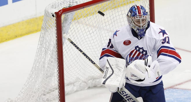 Amerks goalie Nathan Lieuwen has a sparkling 1.32 goals-against average and .954 save percentage over his past six starts.