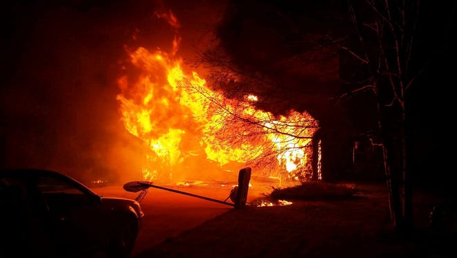 A Town of Sheboygan home was destroyed by fire on Christmas Eve.