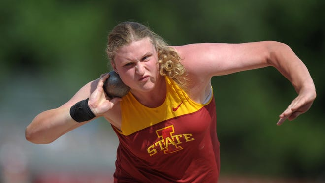Christina Hillman is the reigning NCAA champ in the women's shot put.