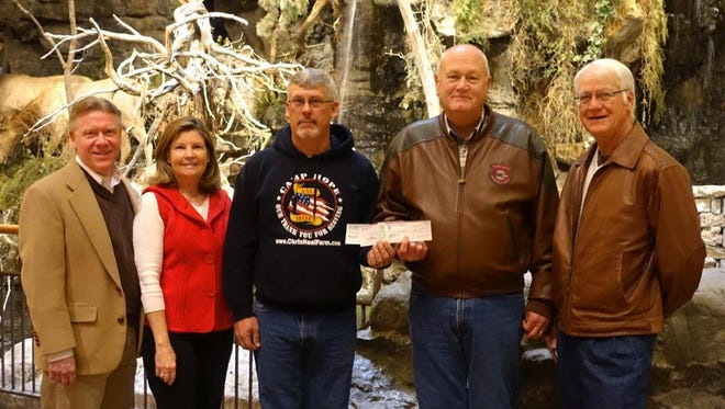 On Dec. 20, the donation was presented to Steve White, a Camp Hope board member, by officers of the Southwest Missouri Corvette Club.