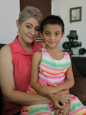 """Juliet Rodriguez, 6, has cavernous malformation, which causes intracranial blood vessel malformation. Her mother, Viridiana """"Viri"""" Peña, and her friend, Jessica Yerrington, are having a benefit Saturday at Bar & Bistro."""