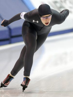 Carlijn Schoutens is the only American competing in the longest women's speedskating event at the Olympics, the 5,000 meters.