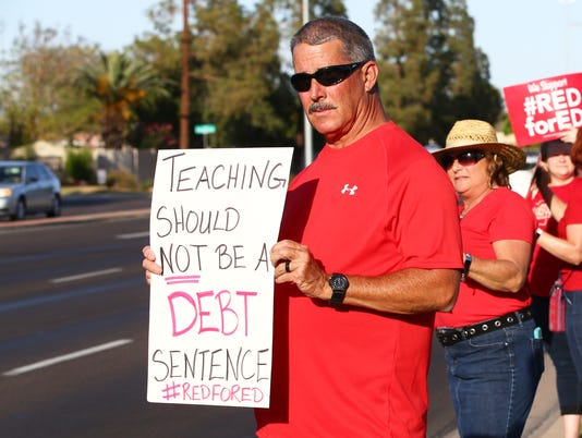 #RedForEd Baseline Road