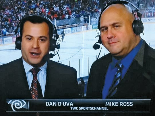 Ridgewood's Dan D'Uva makes his debut on the NHL Network, alongside Canadian broadcaster Mike Ross.
