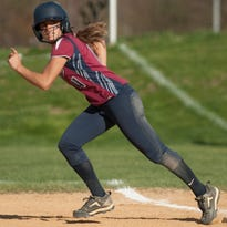 Eastern's Madison Morano takes a lead off first base in a game last year. Eastern