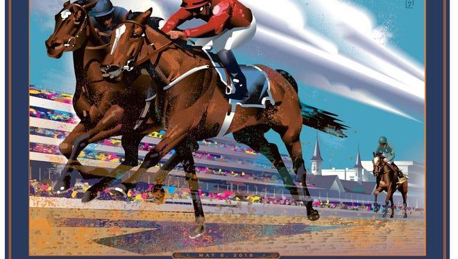 John Mattos' Art Deco take on the Kentucky Derby.