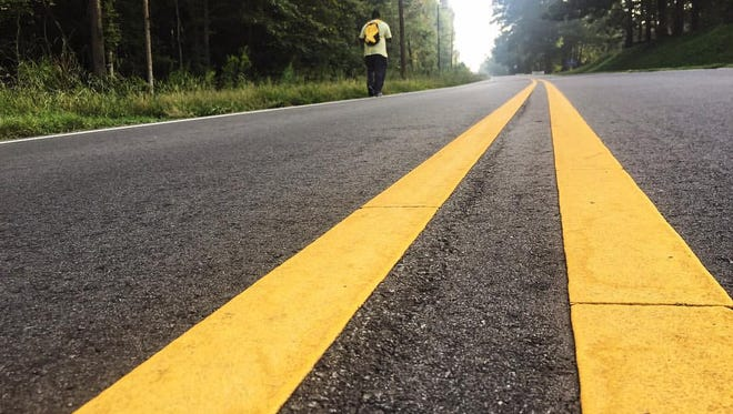 Terence Lester is walking 648-miles from Atlanta to Washington, D.C.