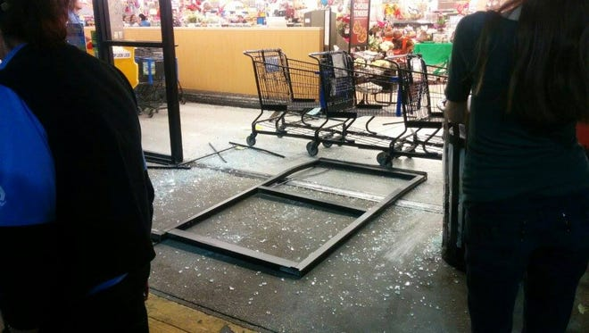 A man crashed his truck into the Albertson's grocery store on Johnston Street Thursday. Police say the man is in custody and that the incident was intentional