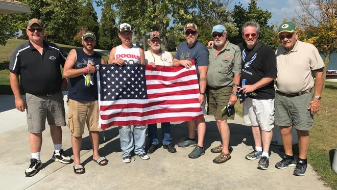 United States veterans were honored to a free autumn musky outing at Random Lake recently by the Between the Lakes Chapter of Muskies, Inc.