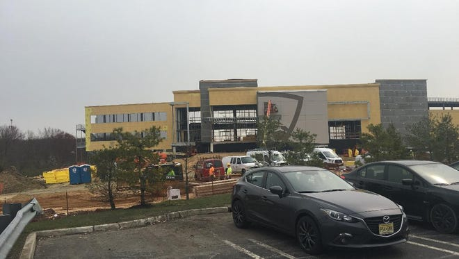 Topgolf Mount Laurel is rising up at its new location at the intersection of Marne Highway and Centerton Road in Mount Laurel.