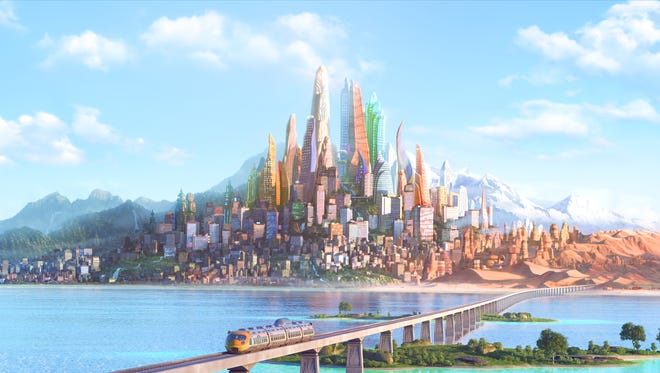 """Comprised of habitat neighborhoods like ritzy Sahara Square and frigid Tundratown, the city in """"Zootopia"""" is a melting pot where animals from every environment live together—a place where no matter what you are, from the biggest elephant to the smallest shrew, you can be anything."""