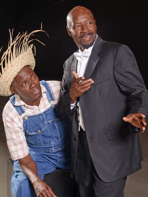 Arthur Reid (left) and T.A. Burrows star in the Black Theater Troupe production 'Purlie.'