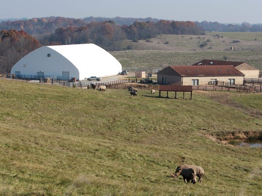 The Wilds expects to finish its new indoor white rhino