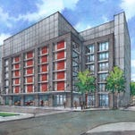 The Lafayette Street elevation of the eight-story storage building planned at 825 Third Ave. S.