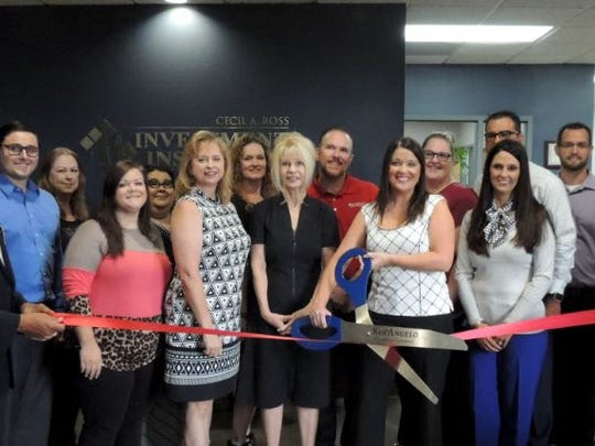 The business family of Cecil A. Ross celebrated their expansion into health insurance on Oct. 4, 2017, as Mayor Brenda Gunter joined Concho Cadre members and Paula Barron (holding scissors), Cecil A. Ross and Christy Ross to mark the occasion. The firm, now known as Cecil A. Ross Investments & Insurance, is located 5301 Knickerbocker Road in San Angelo.