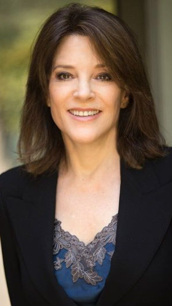 "Marianne Williamson- best selling author of ""A Woman's Worth."""