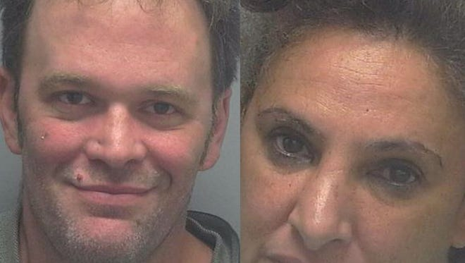 Cape Coral arrested two people on St. Patrick's Day on DUI charges. Marcia Marie Ortega, right, and Adam Stewart, left.