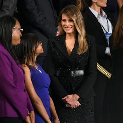 Sequins in Congress: Melania sparkles in Michael Kors for Trump's speech