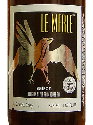 Le Merle beer from North Coast Brewing Co. in Fort Bragg, Calif., stands out through its fruity notes.
