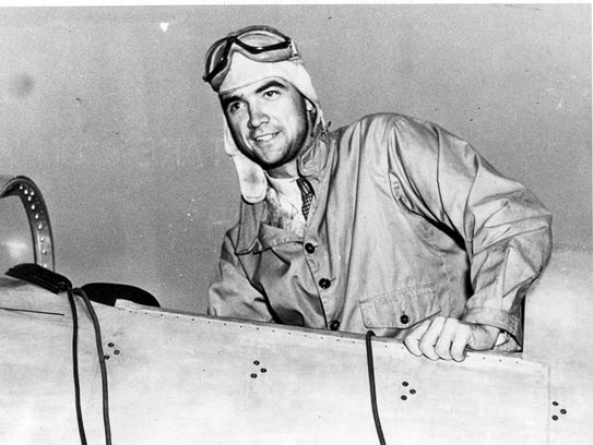 Billionaire Howard Hughes in the cockpit of his all-metal