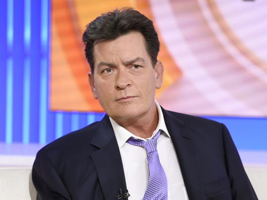"""Actor Charlie Sheen appears during an interview, Tuesday, Nov. 17, 2015 on NBC's """"Today"""" in New York. In the interview, the 50-year-old Sheen said he tested positive four years ago for the virus that causes AIDS."""