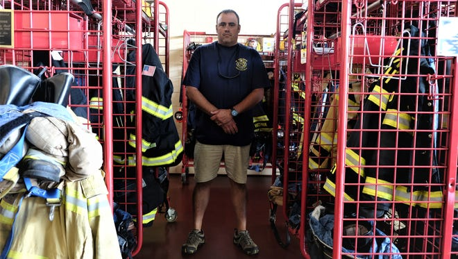Bethany Beach Volunteer Fire Company Chief Brian Martin stands inside the station on Wednesday, July 18, 2018.