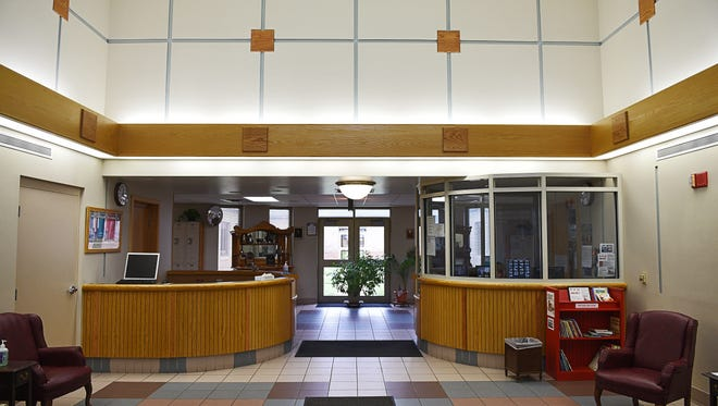 The visitor's entryway at the South Dakota Human Services Center Friday, June 3, 2016, in Yankton, S.D.